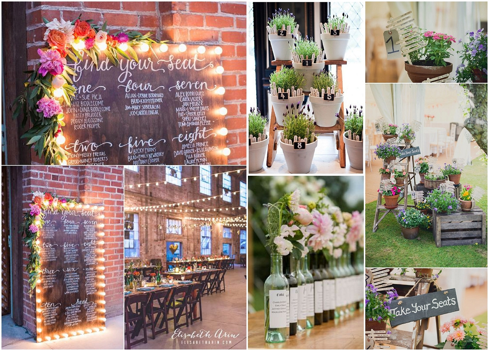 Floral Wedding table plans