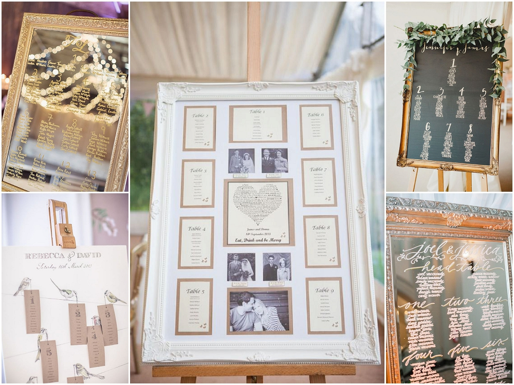 Table plans - elegant seating plans for weddings