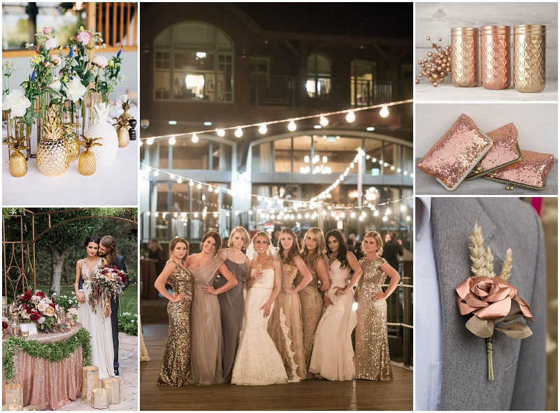 Metallic wedding inspiration