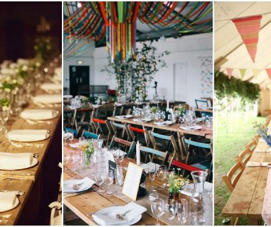 wedding tables, trestle tables, wedding receptions, table hire, furniture hire, Devon