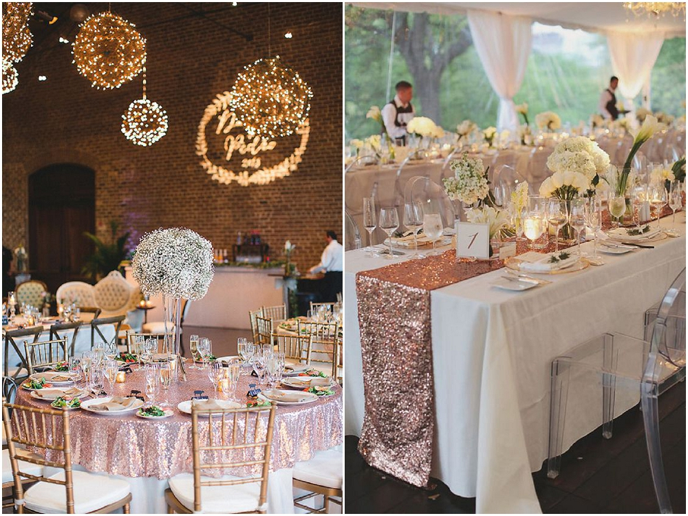 sequin tablecloths, sequin runners,