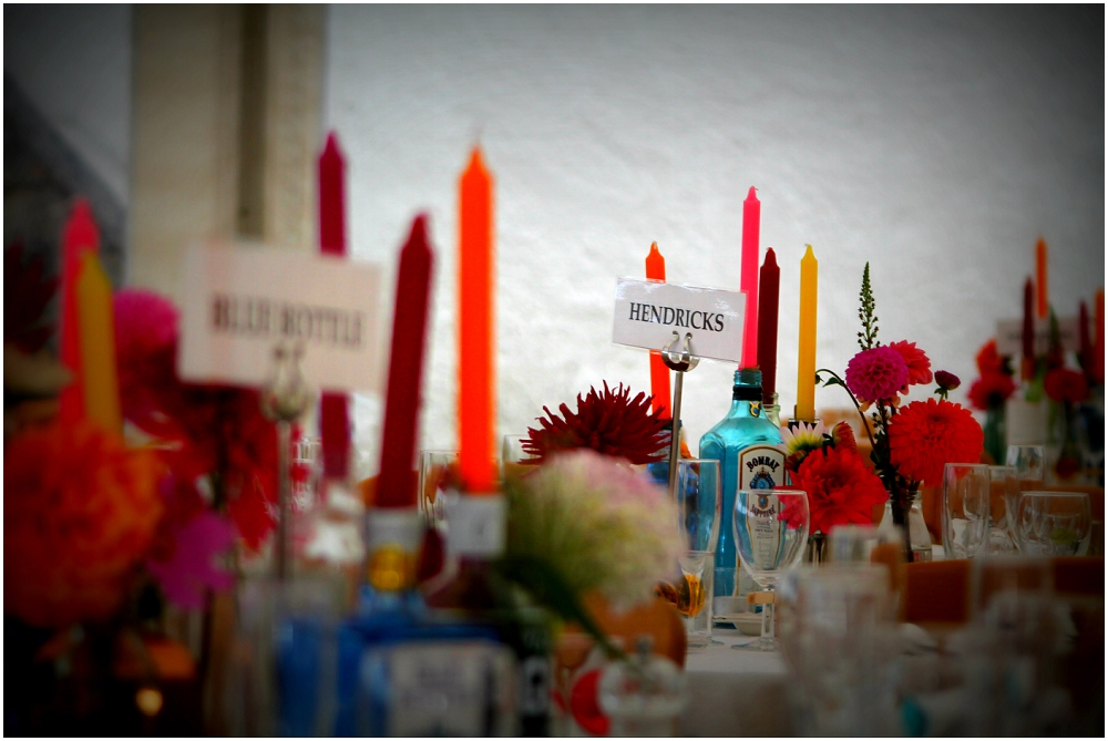 coloured candles, coloured dahlias, 21st birthday party, gin theme, marquee hire, event hire, furniture hire, glassware, crockery, china